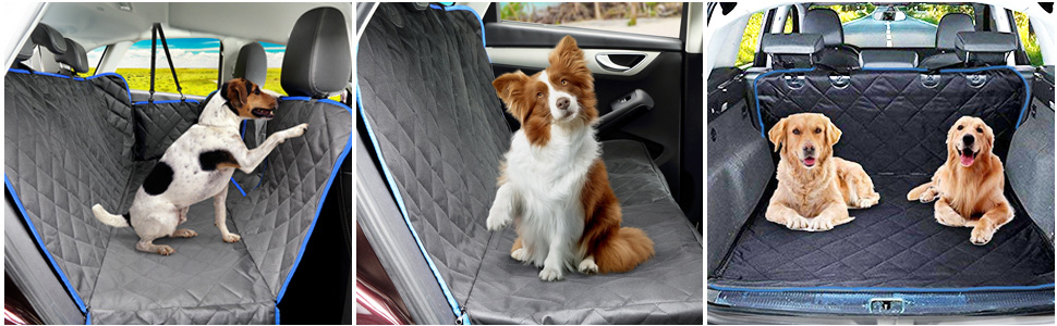 SUPSOO Dog Car Seat Cover Waterproof Durable Anti-Scratch Nonslip Back Seat Pet Protection Dog Road Trip Hammock with Mesh Window and Side Flaps for Cars/Trucks/SUV price