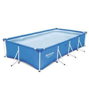 amazon Bestway Steel Pro 157 x 83 x 32 Rectangular Frame Above Ground Swimming Pool