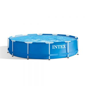 mazon Intex 12 Foot x 30 Inches Metal Frame 1718 Gallon Capacity Above Ground Poolswimming pools above ground buy