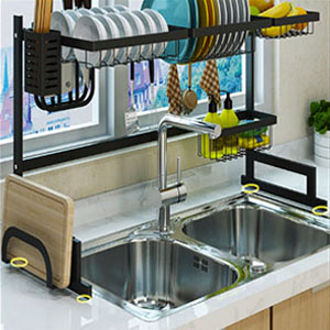 Sink Rack Dish Drainer for Kitchen Sink Racks Stainless Steel Over The Sink Shelf Storage Rack