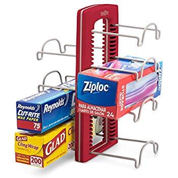 YouCopia StoreMore Adjustable WrapStand Kitchen Wrap Organizer Red