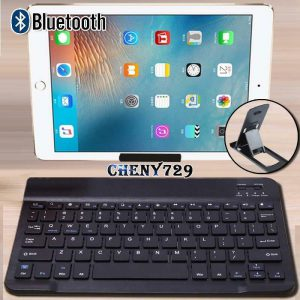 """Universal Wireless Bluetooth Keyboard For 10"""" Tablet + Stand Holder"""