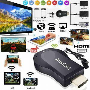 无线 Anycast WiFi 显示器保护器 1080p HDMI 电视棒 DLNA AirPlay Miracast- 显示原刊登标题