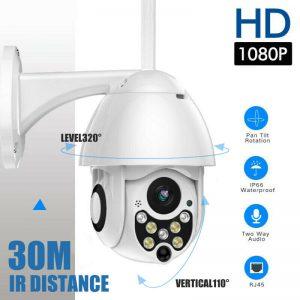 1080p 高清 wifi 网络摄像机白色无线室外监控摄像机家庭安保红外摄像头 * - 2mp- 显示原刊登标题