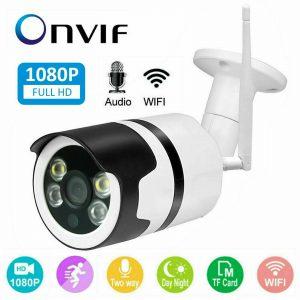 1080p wifi 网络摄像头无线室外监控摄像机家庭安保红外摄像头夜视- 显示原刊登标题