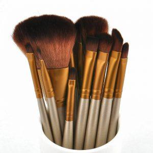 12pcs/set 化妆刷散粉粉底眼影眼线唇膏刷工具- 显示原刊登标题