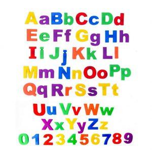 26pcs Plastic Alphabet Letters Number Baby Kids Fridge Magnet Educational Toy