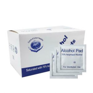 100PCS Disposable 70% Iso Alcohol Prep Pad Sterilization Swabs Cleanser Wipes