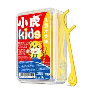 80Pcs Kids Flossers Teeth Cleaner Toothpick Floss Dental Floss Care Oral Hygiene