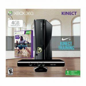 Xbox 360 4GB With Kinect Nike+ Bundle By Microsoft Very Good 5Z