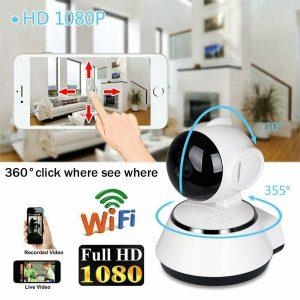 1080P HD IP Caméra CCTV Sans fil Wifi Maison Vidéo surveillance de sécurité