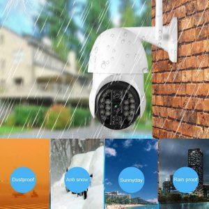 1080P HD 20LED Wifi PTZ Caméra de Surveillance Sans fil Vision Nuit Sécurité 2MP