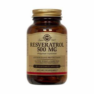 Solgar Resveratrol 500 mg 30 Vegetable Caps, Clearance for exp date 11/2020