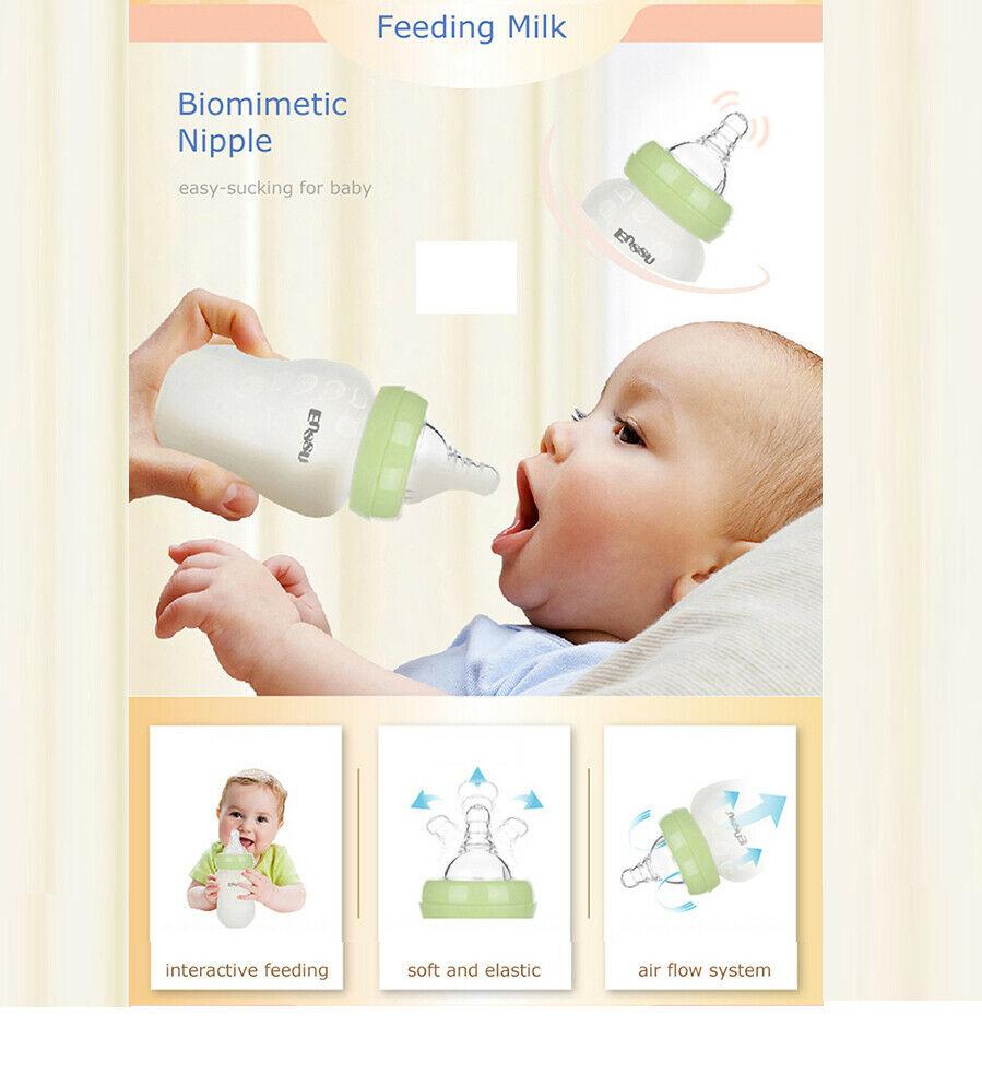180ml Newbaby Infant Baby Feeding Bottles BPA-Free Safe ...